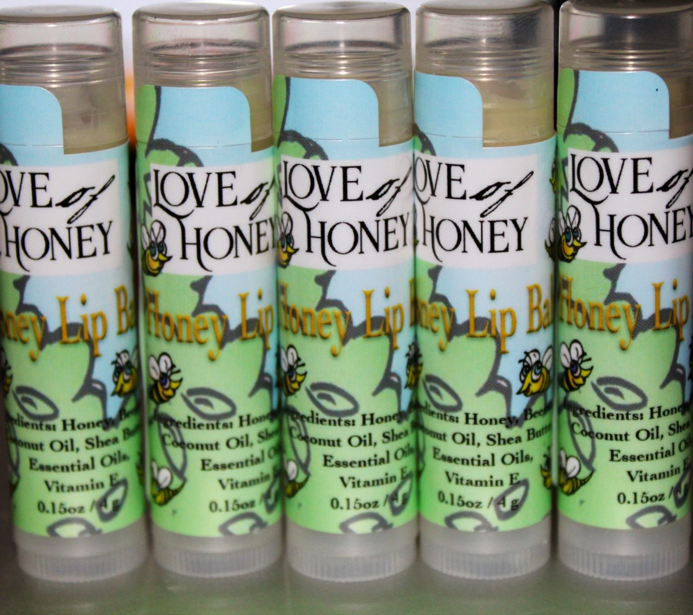 Love of Honey Lip Balm now in the store