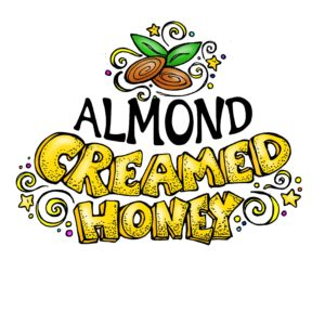 RAW and unfiltered Almond Creamed Honey 1.1lb
