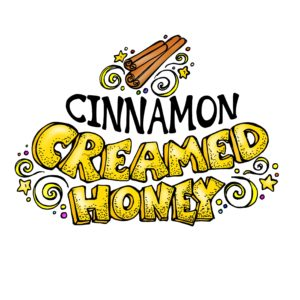 RAW and unfiltered Cinnamon Creamed Honey 1.1lb