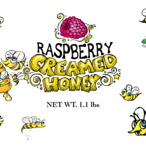 RAW and unfiltered Raspberry Creamed Honey 1.1lb